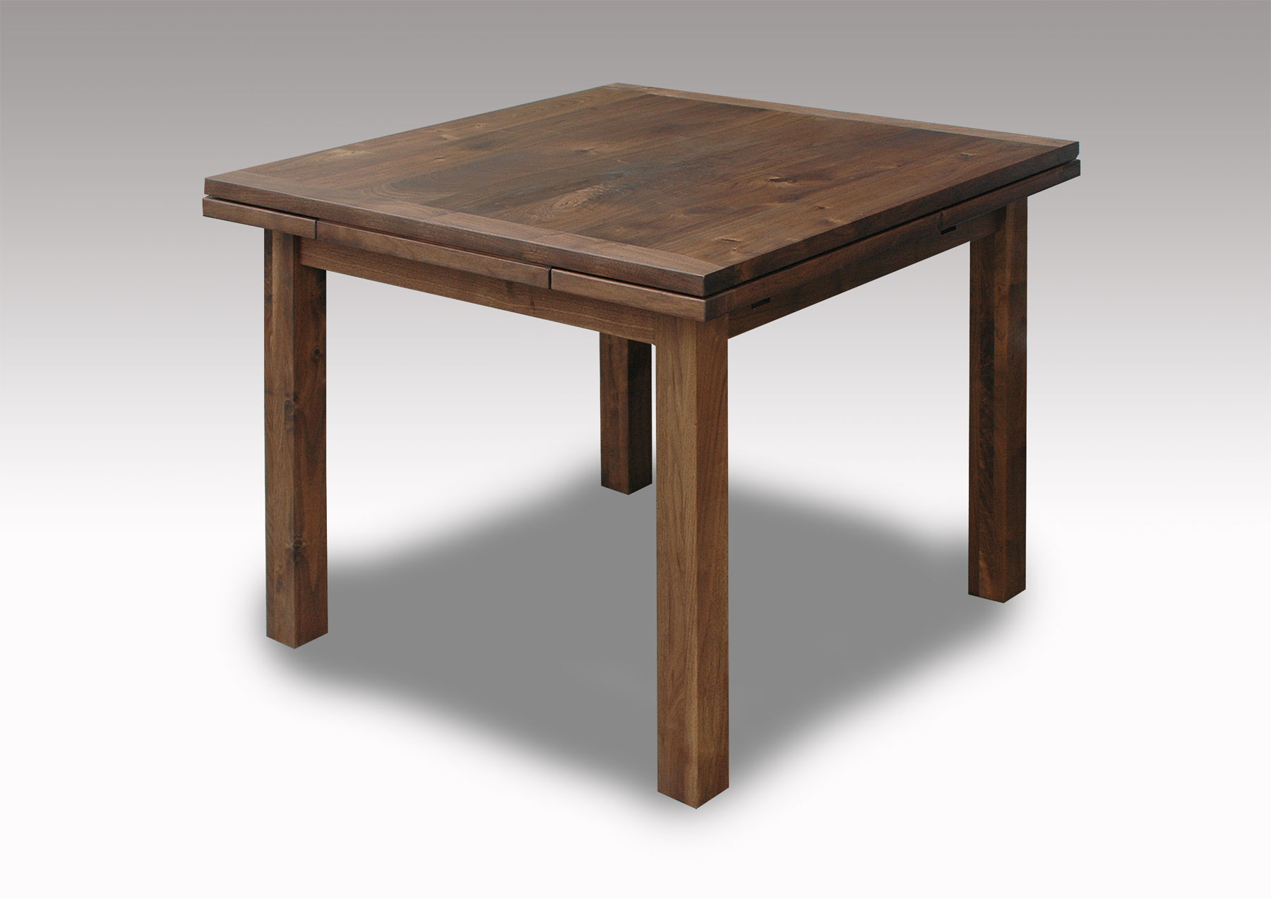 ウォールナット伸縮テーブル ...